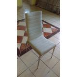 sillas de piel blanca nuevas