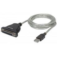 Cable Adaptador Usb A Paralelo (db25) Manhattan Mod: 336581