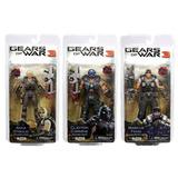 Neca Gears Of War 3 Set Anya, Clayton Y Marcus Fenix