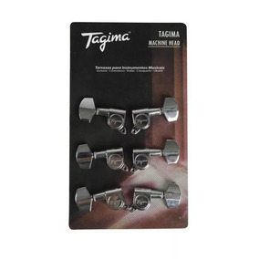 Tarraxa Guitarra Ou Violão Aço Tagima 3+3 Tmh 801 Cr