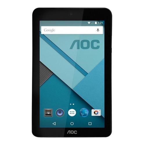 "Tablet AOC A726 7"" 8GB negra con memoria RAM 1GB"