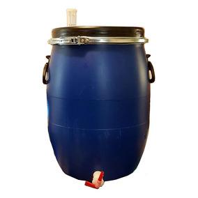 Fermentador Azul Hdpe Alimenticio 50 Litros Cerveza Artesana