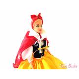 Boneca Barbie Com Vestido Fantasia Branca De Neve Promoção