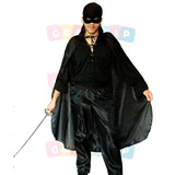Roupa Do Zorro Fantasia: Capa, Máscara, Camisa, Lenço, Calça