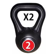 Pesa Rusa Kettlebell Pvc 2 Kg C/u X 2 Uds Funcional Functional