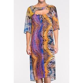 Vestido Mídi Seda Natural Estampada Belle & Bei- Sob Medidas