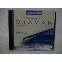 Cd Luiz Avelar- Homenagem A Djavan- O Piano De Luiz Avelar