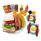 Sandwich Comida Rápida Cocina Juego Para Niños - 33 Piezas (
