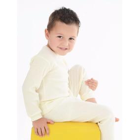 Conjunto Criança Infantil Canelado Calça + Blusa 1 2 3 4 Ano