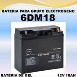Bateria Grupo Electrogeno 6dm18 12v 18ah Gel 6fm18
