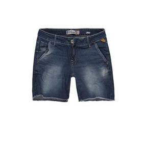 Bermuda Jeans Feminina Bolso Faca Khelf