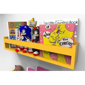 Prateleira Nicho Para Livros Infantil Quarto Bebe Colorida