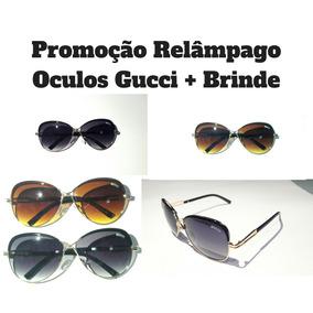 b8fe995b2a157 Oculo Sol Barato Feminino Gucci - Óculos no Mercado Livre Brasil