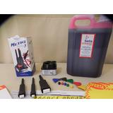 Kit Pincel Catazista Metiq 3 Pinceis +tinta 5 Litros Gratis
