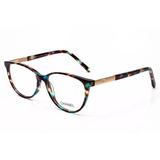 Armação Oculos Grau Feminino Ch5 Importado Acetato