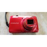 Camara De Fotos Nikon Coolpix S6300 Roja. Usada, Impecable.