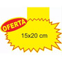 Cartaz Splash Oferta (15x20cm) Papel Dupléx 250g - 100 Und