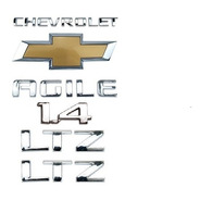 Emblemas Chevrolet Agile 1.4 + Laterais Ltz + Mala