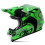 Capacete Motocross Pro Tork Squad Preto E Verde Trilha