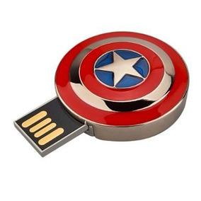 Usb Novedoso Escudo Del Capitán America 16 Gb