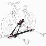 Rack Transbike De Teto Eqmax Velox Preto Suporte Para 1 Bike