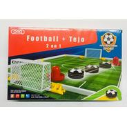 Juego De Mesa Futbol Mas Tejo 2 En 1 A Pila Ar1 789-12c