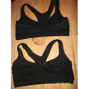Corpiños Deportivos Lovely Talle 95 Pack X 2 Gris Y Negro