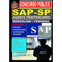 Apostila Concurso Sap-sp 2017 Agente Penitenciário + 2 Cds