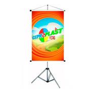 Porta Banner 1,80m Pedestal Tripé Suporte Top Envio Imediato