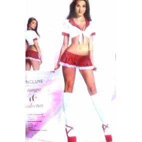 Baby Doll Disfraz Colegiala Incluye Tanga Calcetas 1237375