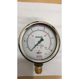Manômetro 100mm 1/2 Reto 0 A 10kgf/cm2 - 150psi