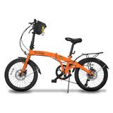Bicicleta Dobrável Aro 20 Shimano 7 Veloc Disco Nas2 Plus Lj