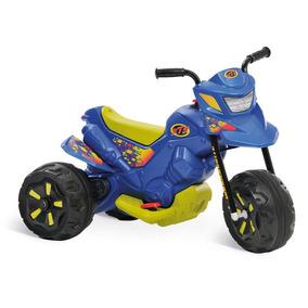 Moto Elétrica Xt3 Azul Infantil Menino Bandeirante