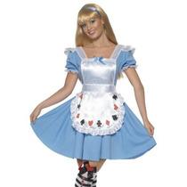 Smiffys Adultos Alice In Wonderland Tarjeta Vestido De Traj