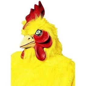 disfraz nio mscara supremo pollo amarillo adulto std
