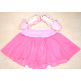 Pollerin + Badanas Cuerina Danza Ballet Rosa Soko Deportes