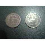 Dos Monedas Antiguas De Un ( 1 ) Centavo