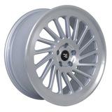 Rines 20x8.5 5-120 4137 Lc-1006t Silver Mf Et35 Jgo 4 Pzas