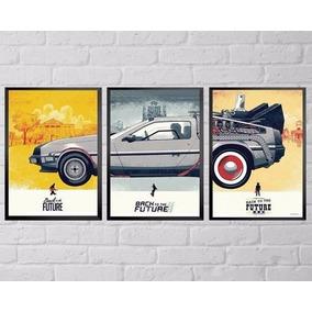 Poster De Volta Para O Futuro Deloren Emoldura E Tamanho A4