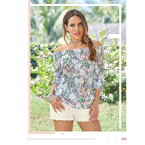 Increíble Blusa Floreada Casual-formal De Moda Cklass