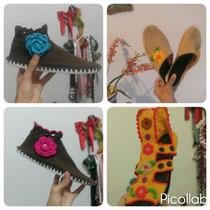 Zapatos Con Suelas, Tejidos A Crochet.