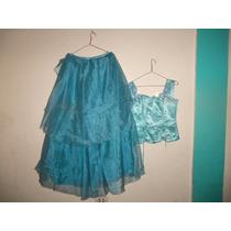 Vestido De 15 Años Azul Ajustable