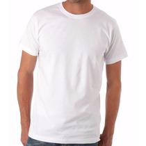 Camiseta Branca Lisa Malha 100% Algodão Fio 30.1