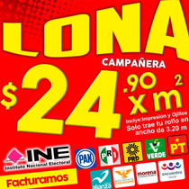 Maquila Impresión De Lona, Gallardetes, Textiles, Campañas