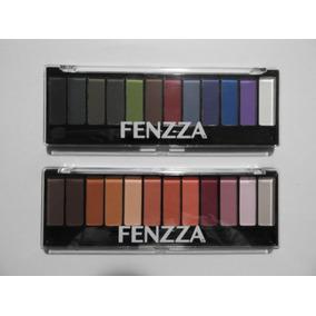 02 Paletas Fenzza 24 Cores Sombras Matte + Pinceis Promoção