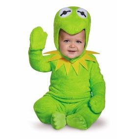 Disfraz Kermit Rana Rene Plaza Sesamo Muppets Niños Y Bebes