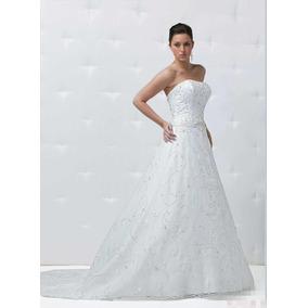 Vestido De Noiva - Branco - 36 - Pronta Entrega - Vn00104