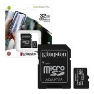 Tarjeta De Memoria Kingston Micro Sd 32gb Cl10 Cs2 100mb/s