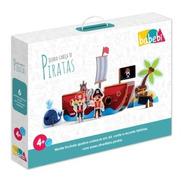 Brinquedo De Madeira Quebra-cabeça 3d Piratas Babebi