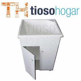 Mueble Lavadero + Pileta 50 X 48cm Fibra Fregadero Tioso